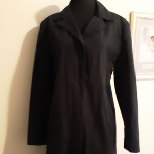 Anne Klein 100% Cotton Trench Coat L